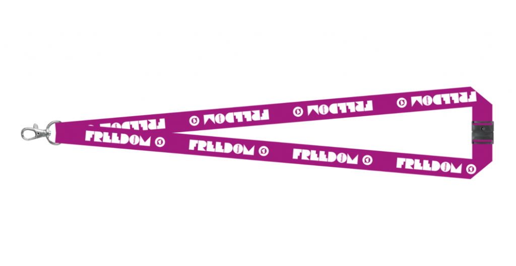 Freedom Festival lanyards