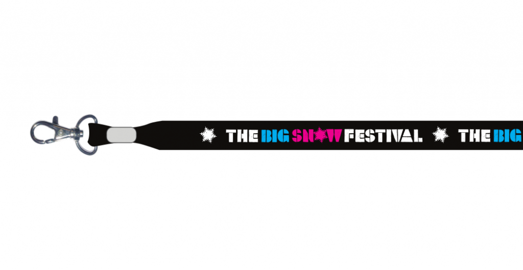 The Big Snow festival lanyards