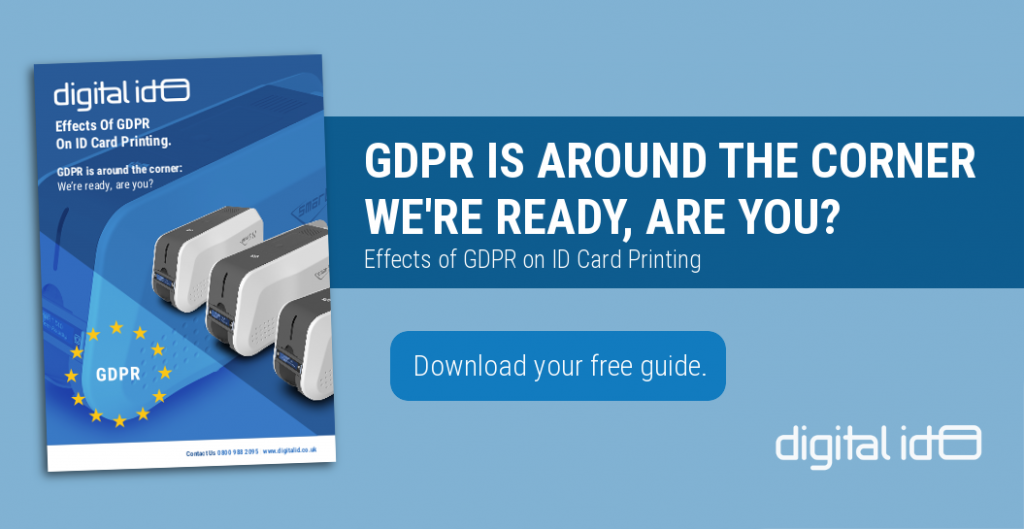 Effects of GDPR on ID card printing.