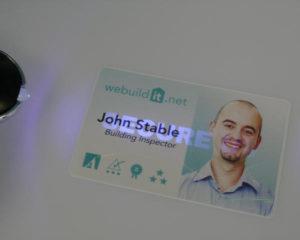 UV ink on an ID card