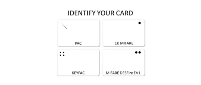 Identify your PAC proximity cards