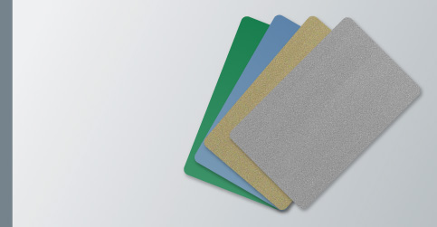 coloured cards - Blank Plastic Cards