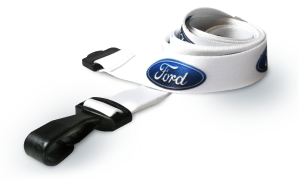 Ford personalised lanyard with plastic j-clip and safety breakaway