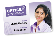 ID Card. OfficeSupplies, Charlotte Low, Accountant