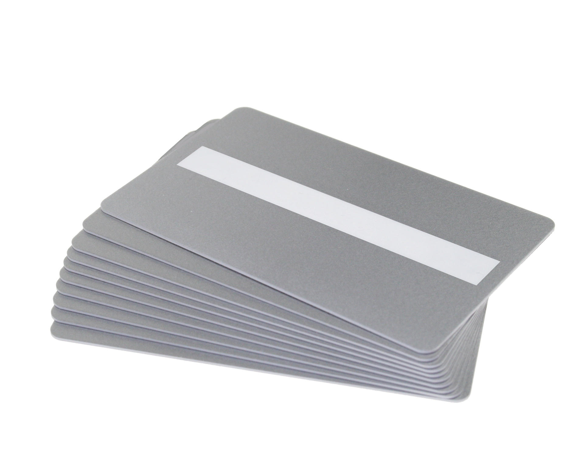 Pack of 100 Silver Premium 760 Micron Cards with Sig Panel