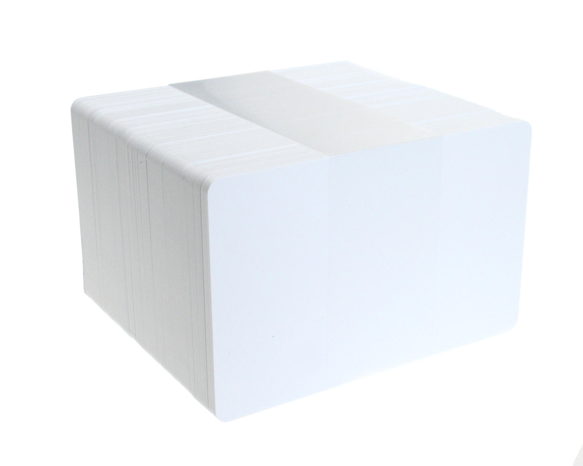 blank white biodegradable plastic cards pack of 100 c bio wh - Blank Plastic Cards