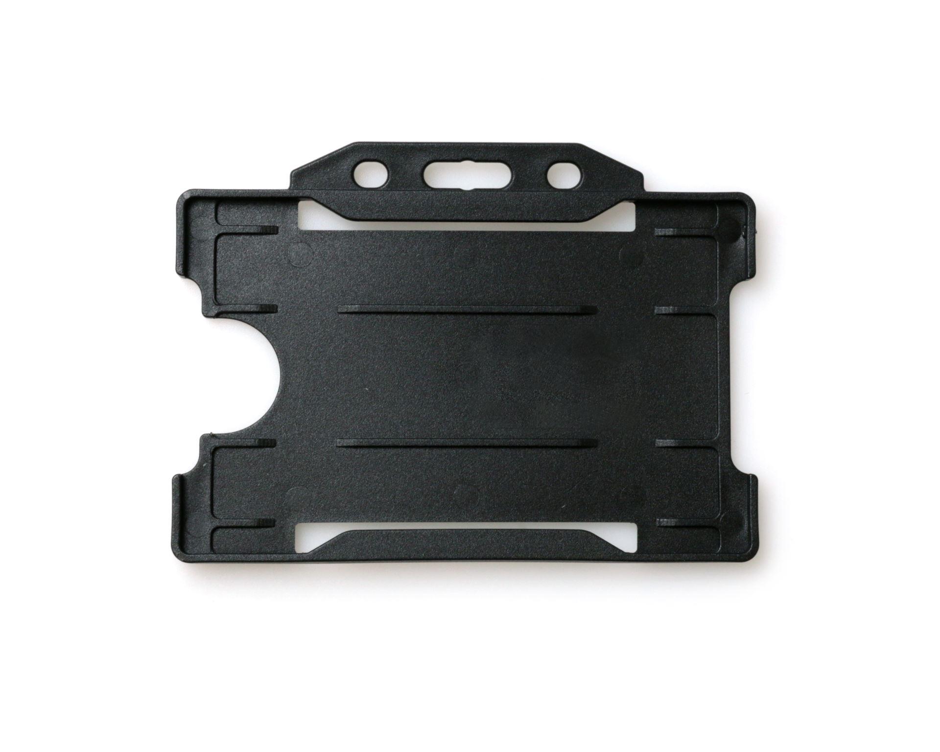 black open faced rigid card holders landscape pack of 100 - Id Card Holder