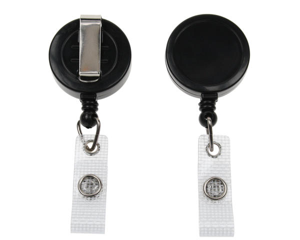 Black Card Reel With Re-Inforced Strap Clip - Pack of 50