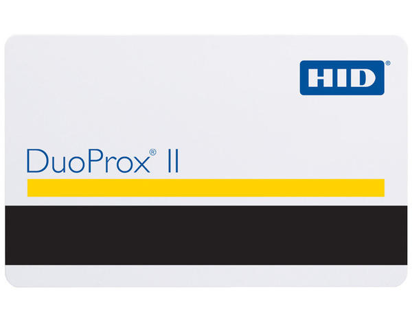 Pack of 100 HID Duo Prox II 125kHz Programmable Proximity Cards with 2750oe Mag Stripe