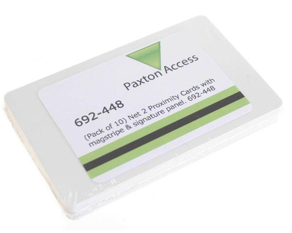 Paxton Net 2 Proximity ISO Cards With Encoded Mag & Signature Panel - Pack of 10