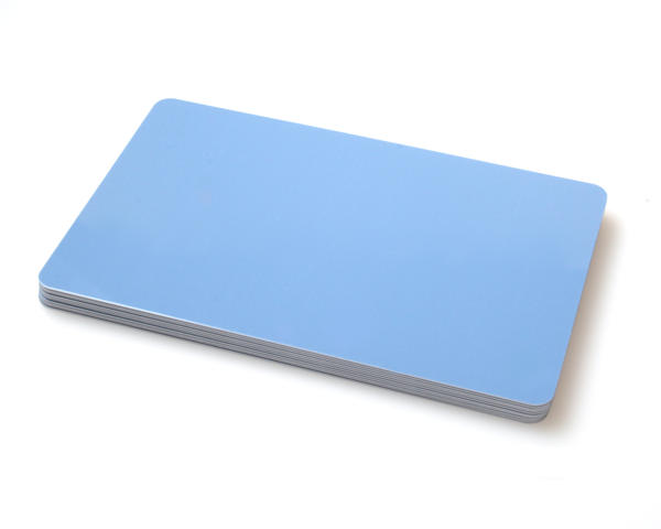 Premium Light Blue 420 Micron Cards - Pack of 100