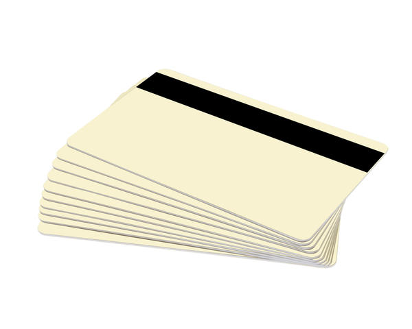 Pack of 100 Cream Premium 760 Micron Cards with Hi-Co Magnetic Stripe