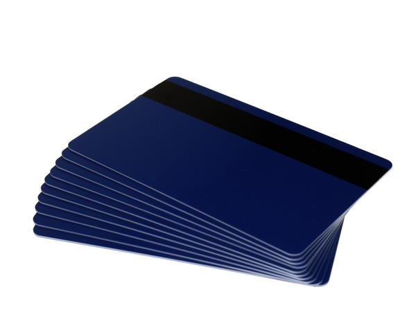 Pack of 100 Dark Blue Premium Cards with Hi-Co Mag Stripe