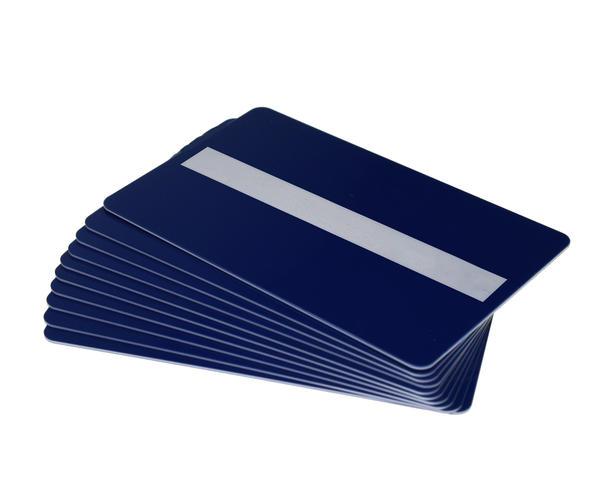 Pack of 100 Dark Blue 760 Micron Cards with Sig Panel
