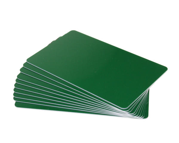 Pack of 100 Forest Green Premium 760 Micron Cards