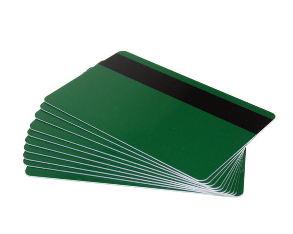 Pack of 100 Forest Green 760 Micron Cards with Hi-Co Magnetic Stripe
