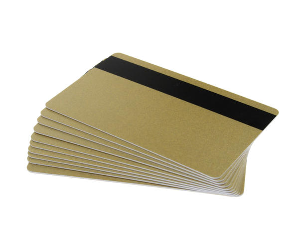 Pack of 100 Light Gold 760 Micron Cards with Hi-Co Mag