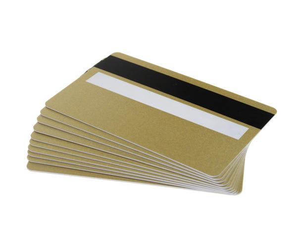 Pack of 100 Light Gold 760 Micron Cards with Hi Co & Sig