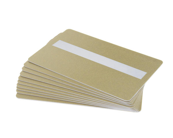 Pack of 100 Light Gold 760 Micron Grade A Cards with Sig