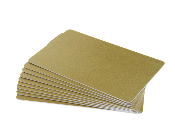 Pack of 100 Glitter Gold Premium 760 Micron Cards