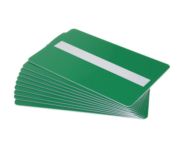 Pack of 100 Green Premium 760 Micron Cards with Sig Panel