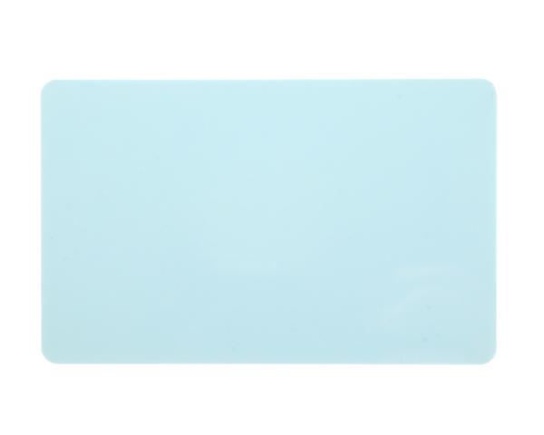 Light Blue Premium Solid/Coloured Core 760 Micron Cards - Pack of 100
