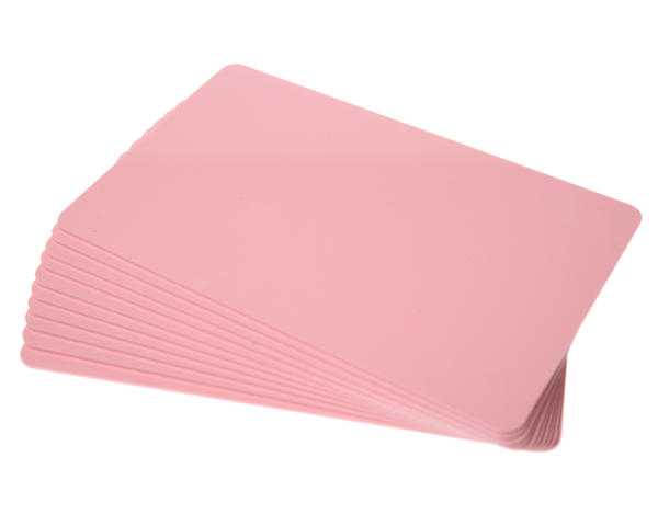 Pack of 100 Pink Premium 760 Micron Cards