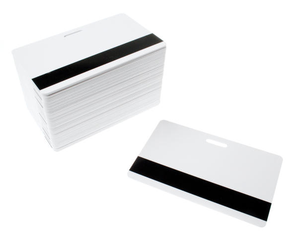 White Dyestar Premium Hi-Co Mag Cards With Slot - Pack of 100