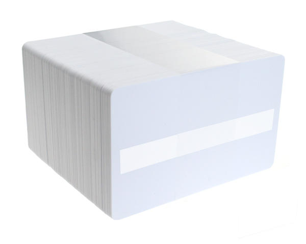 Pack of 100 Premium White 760 micron Cards with Sig Panel
