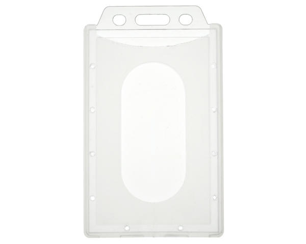 Enclosed Eco PP Translucent Card Holders Portrait, 58mm Thumb Slot - Pack of 100