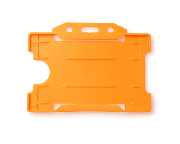 Orange Open Faced Rigid Card Holders - Landscape - Pack of 100