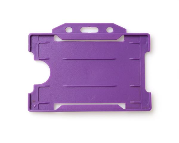 Purple Open Faced Rigid Card Holders - Landscape - Pack of 100