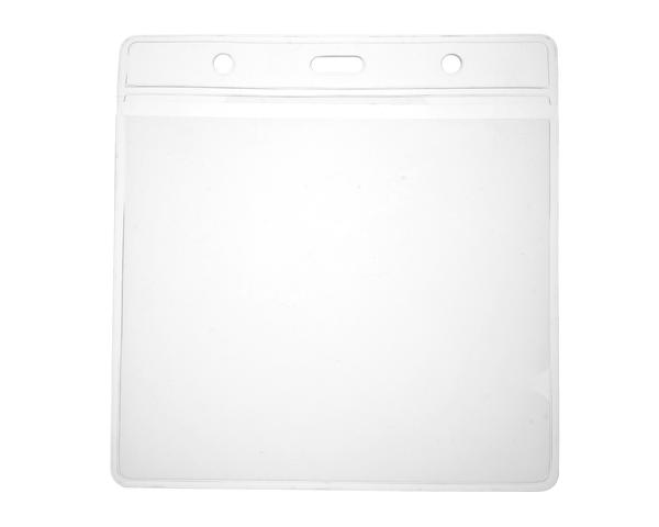 Vinyl Clear Visitor Card Holder with 118x112 mm insert, 125x128mm outer, Landscape - Pack of 100
