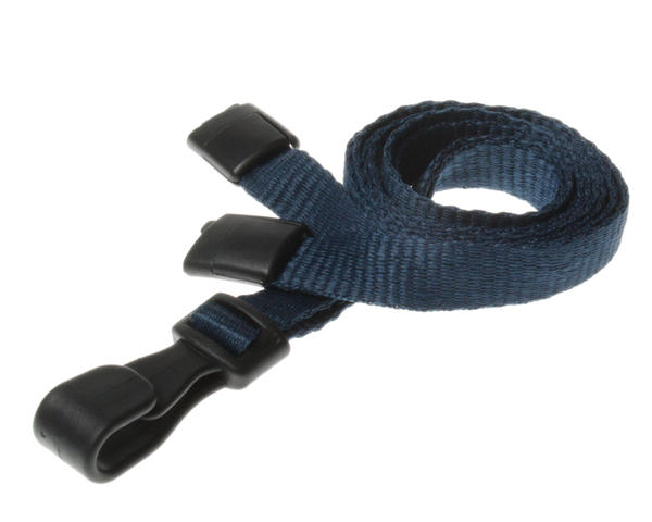 Dark Blue Breakaway Lanyards With Plastic J-Clip - Pack of 100