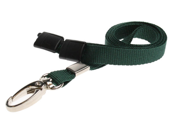Dark Green Breakaway Lanyards Metal Lobster Clip - Pack of 100