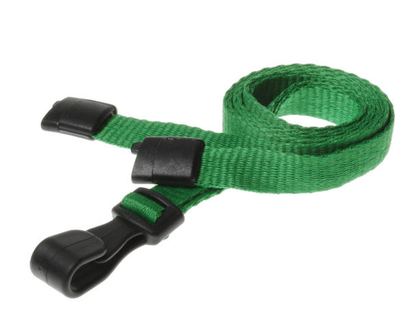 Light Green Breakaway Lanyards with Plastic J-Clip - Pack of 100