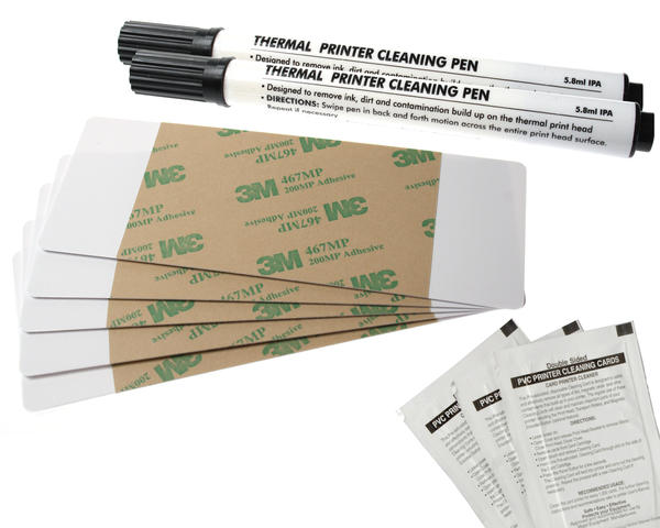 Fargo DTC550 Cleaning kit 2 Pens, 10 Cards, 10 Pads