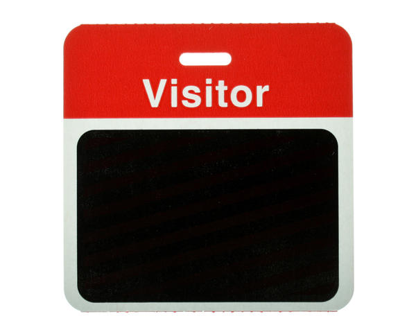 Pack of 1000 - TEMPBadge, Back Part, Visitor (Red) - 9505913