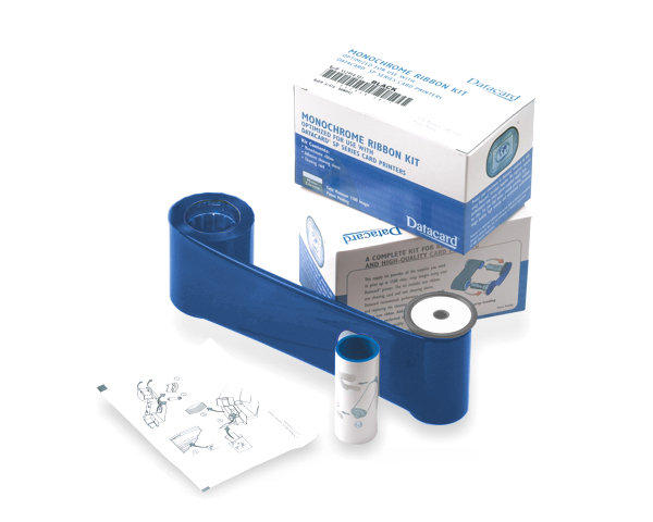 Datacard Dark Blue Monochrome Printer Ribbon Kit 532000-003 - 1500 Prints