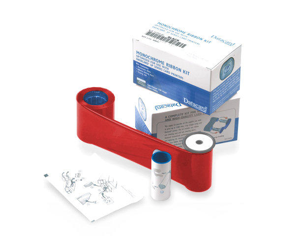 Datacard Red Monochrome Printer Ribbon Kit 532000-005 - 1500 Prints