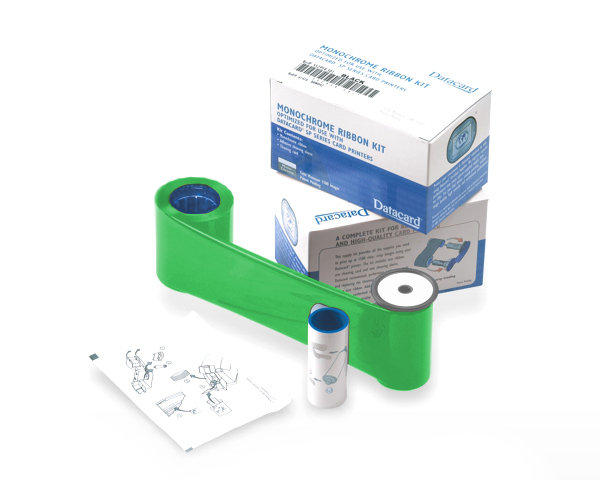 Datacard Green Monochrome Printer Ribbon Kit 532000-008 - 1500 Prints