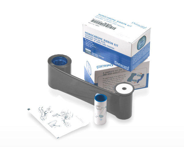 Datacard Monochrome Ribbon Kit, Scratch-Off - 1500 prts