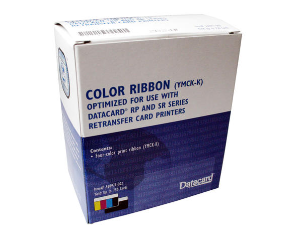 Datacard SR200 & SR300 RP90 YMCK-K Full Colour Ribbon 568971-002 - 750 Prints
