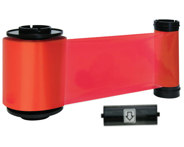 Smart-70 659194 Red Resin Printer Ribbon with Cleaning Roller - 3000 Prints