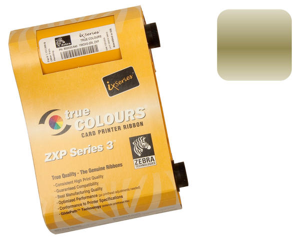 Zebra ZXP Series 3 Gold Ribbon 800033-806 - 1000 prints