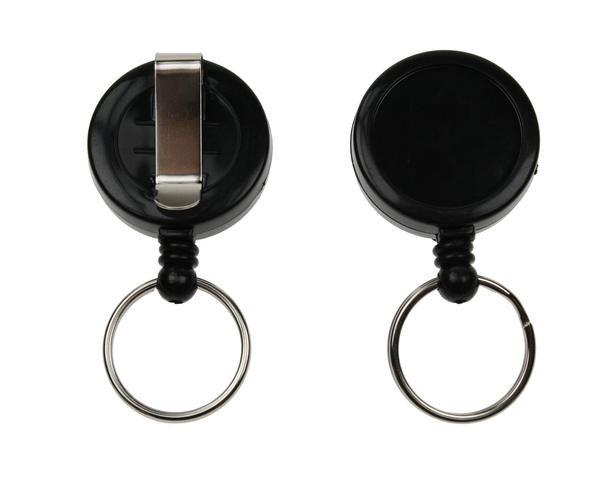 Black Card Reel With Key Ring - Pack of 50