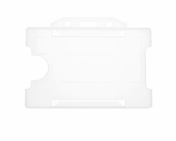 Clear Open Faced Rigid Card Holders - Landscape - Pack of 100