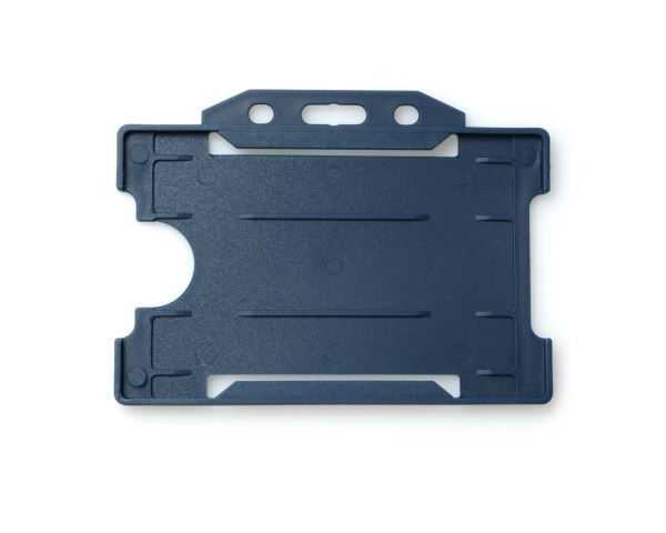 Dark Blue Open Faced Rigid Card Holders - Landscape - Pack of 100
