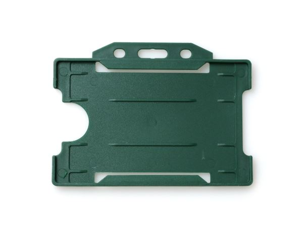 Dark Green Open Faced Rigid Card Holders - Landscape - Pack of 100
