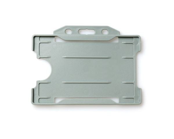 Grey Open Faced Rigid Card Holders - Landscape - Pack of 100